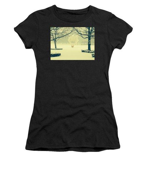 Shuttlecock In The Snow Women's T-Shirt