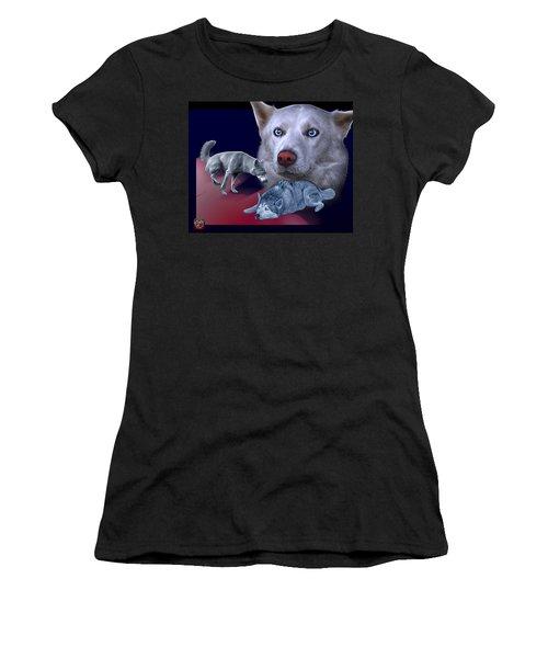 Siberian Husky - Modern Dog Art - 0002 Women's T-Shirt