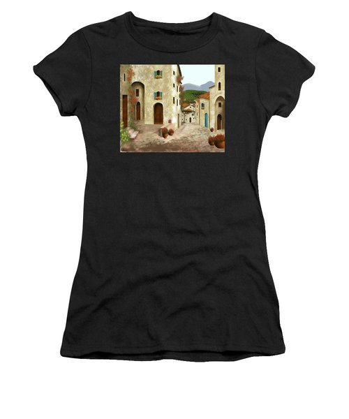side streets of Tuscany Women's T-Shirt (Athletic Fit)