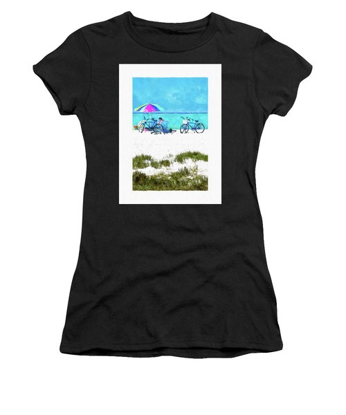 Siesta Key Beach Bikes Women's T-Shirt (Athletic Fit)