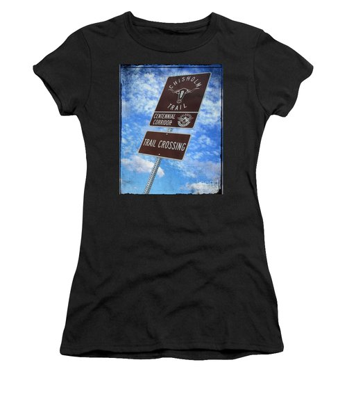 Sign On The Trail Women's T-Shirt (Athletic Fit)