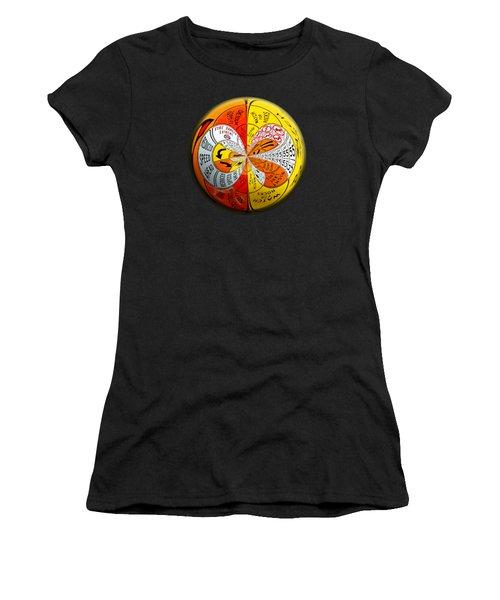 Signs Orbit Women's T-Shirt (Junior Cut) by Phyllis Denton