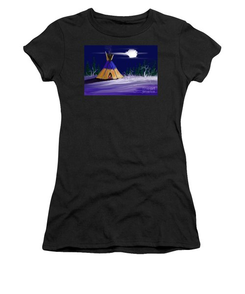 Silence In The Moonlight Women's T-Shirt (Athletic Fit)