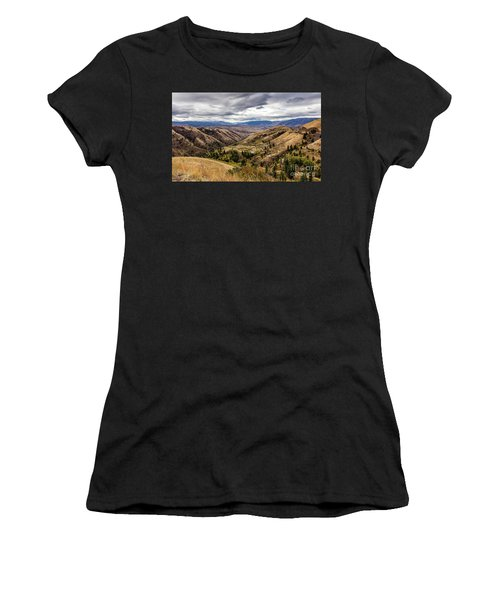 Silence Of Whitebird Canyon Idaho Journey Landscape Photography By Kaylyn Franks  Women's T-Shirt (Athletic Fit)