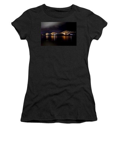 Silent Lights Of The Magic Night. Women's T-Shirt