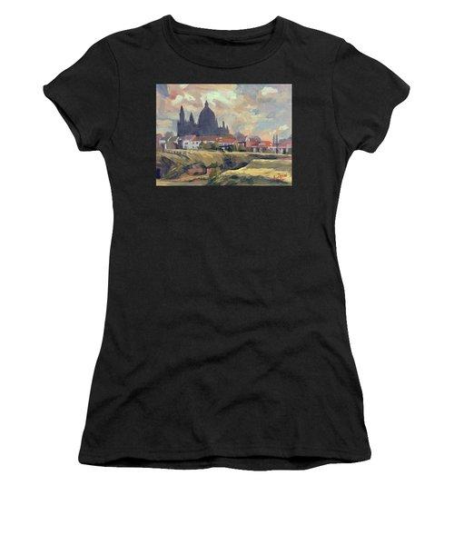 Silhouet Saint Lambertus Church Maastricht Women's T-Shirt