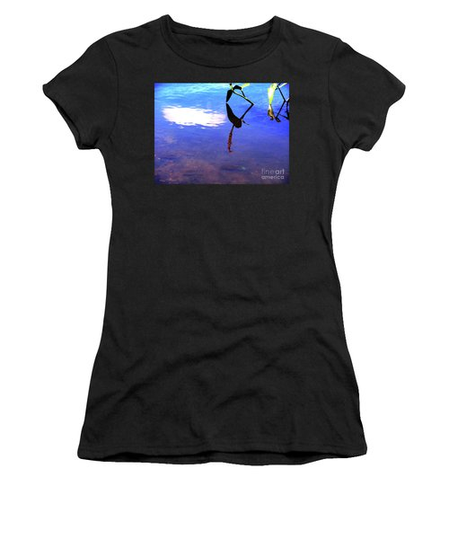Women's T-Shirt featuring the photograph Silhouette Aquatic Fish by Rockin Docks Deluxephotos
