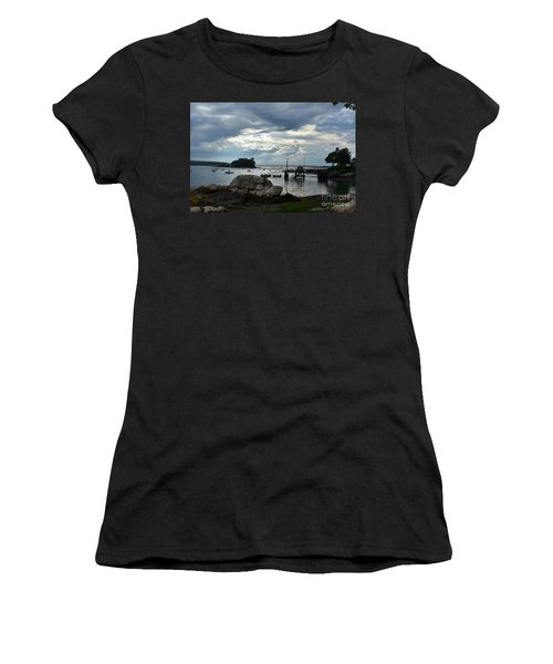 Silhouetted Views From Bustin's Island In Maine Women's T-Shirt (Athletic Fit)