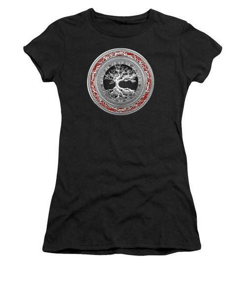 Silver Celtic Tree Of Life Women's T-Shirt
