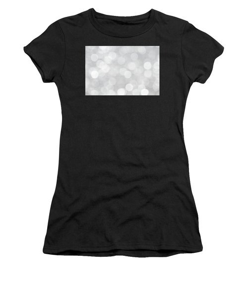 Silver Grey Bokeh Abstract Women's T-Shirt