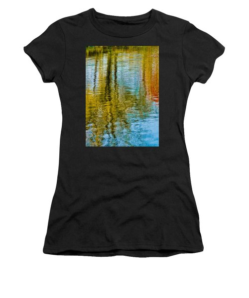 Silver Lake Autum Tree Reflections Women's T-Shirt (Athletic Fit)