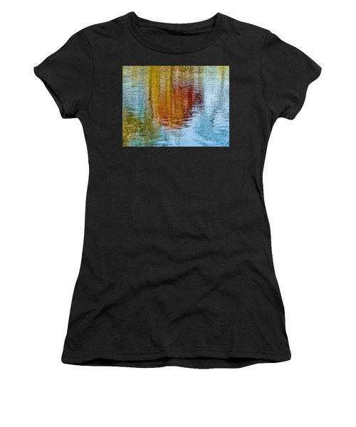 Silver Lake Autumn Reflections Women's T-Shirt (Athletic Fit)