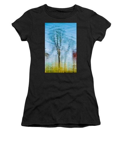 Silver Lake Tree Reflection Women's T-Shirt