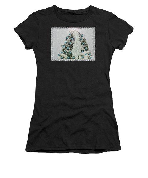Silver Winter Bird Women's T-Shirt