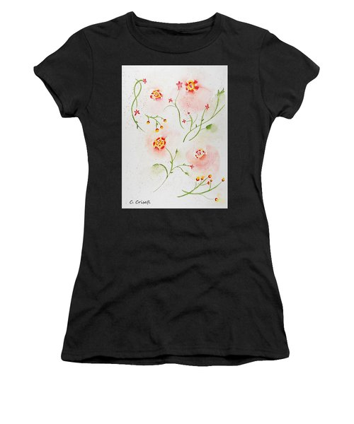 Simple Flowers #2 Women's T-Shirt (Athletic Fit)