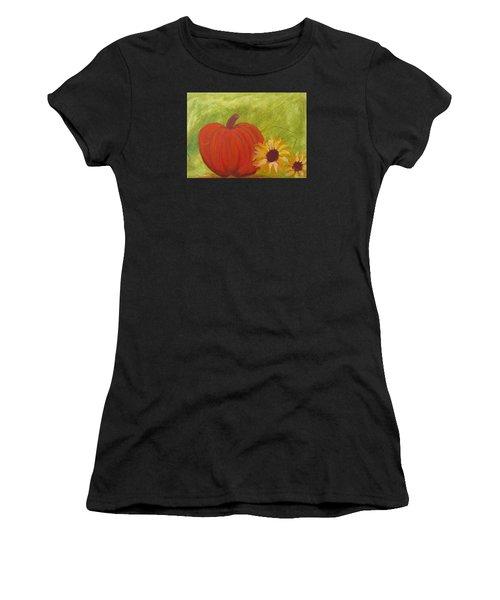 Simple Lone Pumpkin Women's T-Shirt