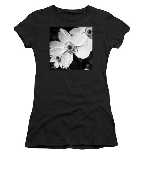 Women's T-Shirt (Junior Cut) featuring the photograph Simply Black And White by Karen Stahlros