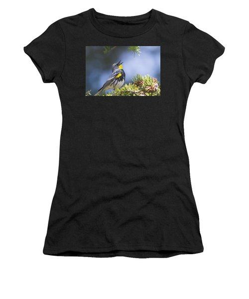 Singing Audubon's Warbler Women's T-Shirt