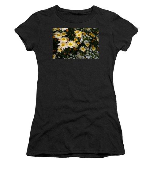 Women's T-Shirt (Junior Cut) featuring the photograph Single Chrysanthemums by Kathryn Meyer