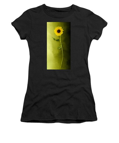 Women's T-Shirt featuring the photograph Single Long Stem Sunflower by Debi Dalio