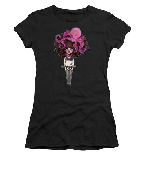 Single Night With The Octopus Women's T-Shirt (Athletic Fit)