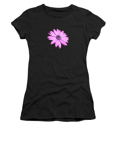 Single Pink African Daisy Women's T-Shirt (Athletic Fit)