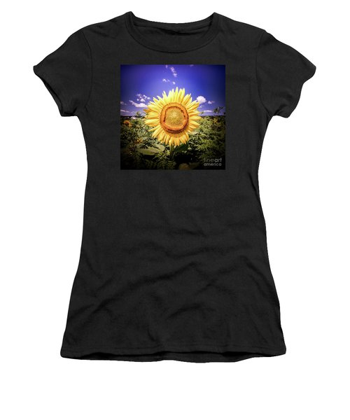 Single Sunflower Women's T-Shirt (Athletic Fit)