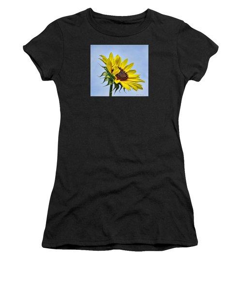 Single Sunflower Women's T-Shirt (Athletic Fit)