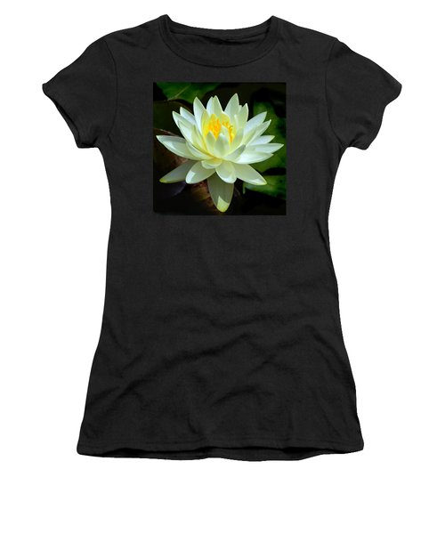 Single Yellow Water Lily Women's T-Shirt (Athletic Fit)