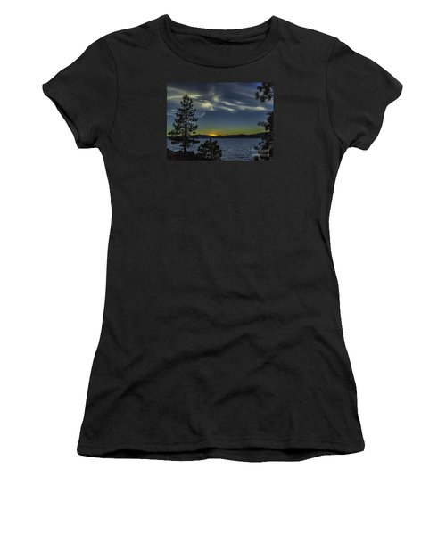Women's T-Shirt (Junior Cut) featuring the photograph Sinking Sol by Nancy Marie Ricketts