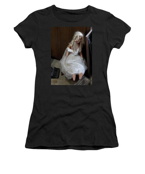 Sitting Doll Women's T-Shirt (Athletic Fit)