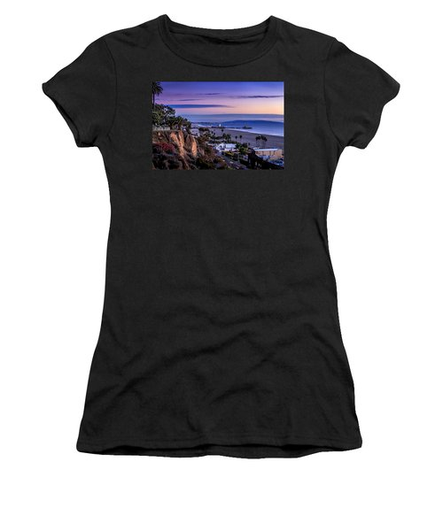 Sitting On The Fence - Santa Monica Pier Women's T-Shirt (Athletic Fit)