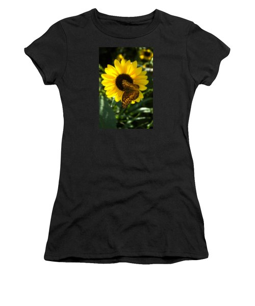 Sitting On The Sun Women's T-Shirt (Athletic Fit)