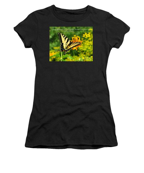 Sitting Pretty Giving Women's T-Shirt (Athletic Fit)