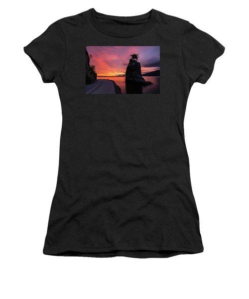 Siwash Rock Along The Sea Wall Women's T-Shirt (Junior Cut) by Pierre Leclerc Photography