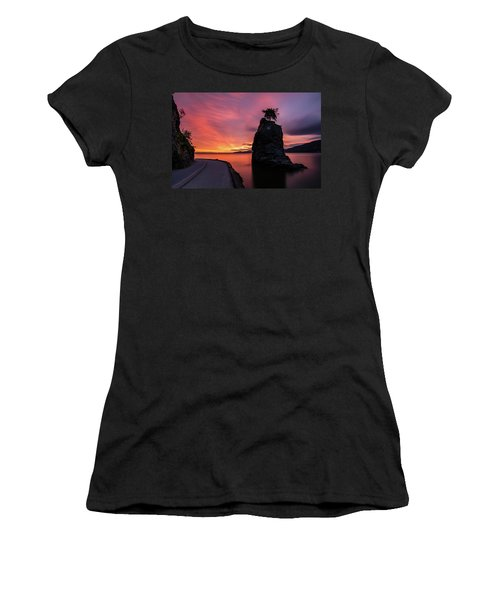 Siwash Rock Along The Sea Wall Women's T-Shirt (Athletic Fit)