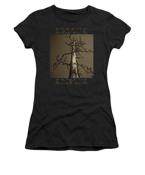 Skeletal Tree Sedona Arizona Women's T-Shirt