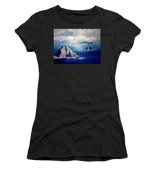 Skelligs Ireland Women's T-Shirt (Athletic Fit)