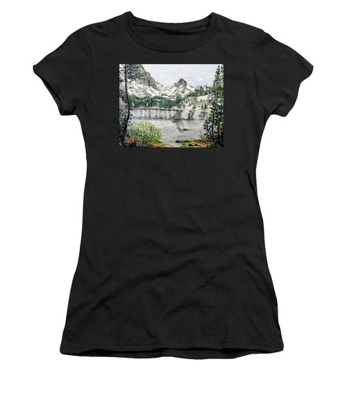 Women's T-Shirt featuring the painting Skelton Lake by Kevin Daly