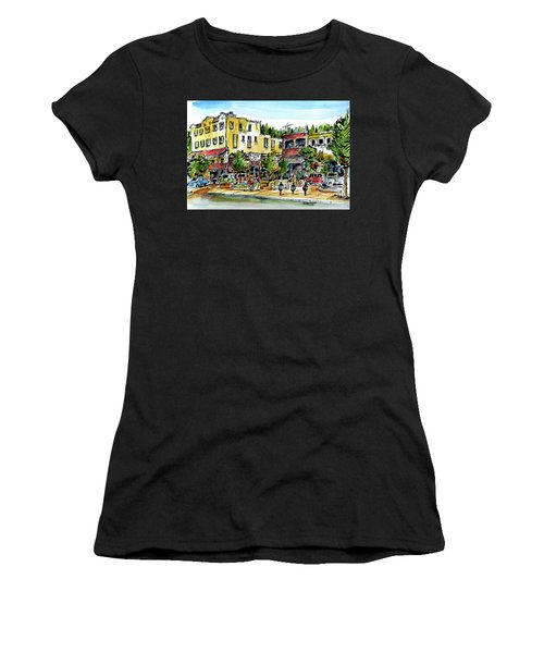 Sketch Crawl In Truckee Women's T-Shirt (Athletic Fit)