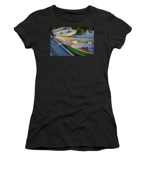 Women's T-Shirt (Athletic Fit) featuring the photograph Skiffs In Tenants Harbor by Rick Berk