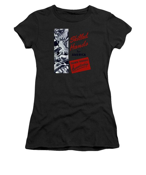 Skilled Hands For America Women's T-Shirt (Athletic Fit)