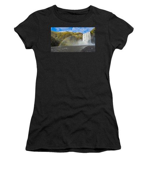 Skogafoss Rainbow Women's T-Shirt