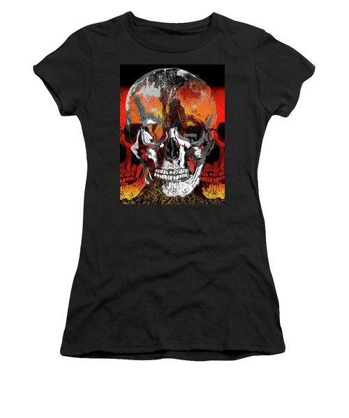 Skull Times Three Women's T-Shirt (Athletic Fit)