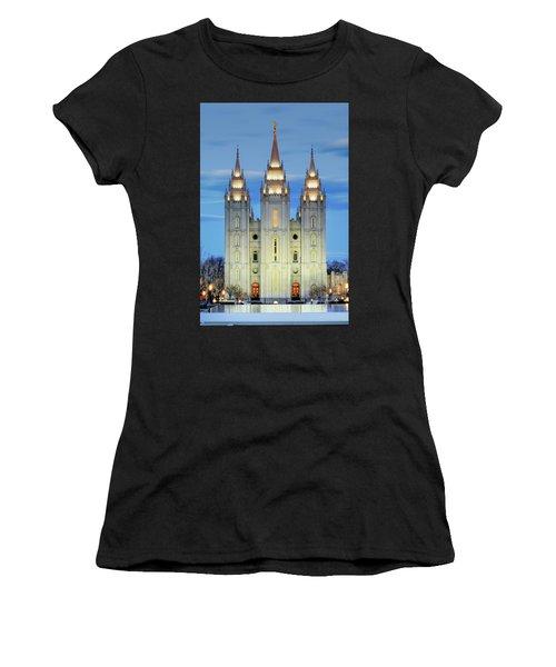 Slc Temple Blue Women's T-Shirt (Athletic Fit)