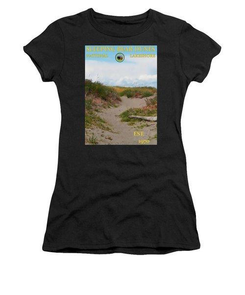 Sleeping Bear Dunes National Lakeshore Poster Women's T-Shirt