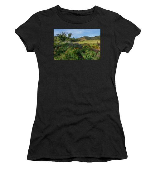 Sleeping Poppies, Mission Trails Women's T-Shirt