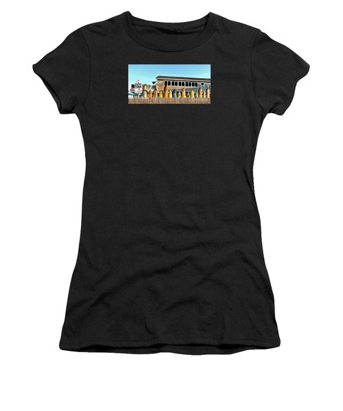 Sloppy Tuna Restaurant, Montauk Long Island Women's T-Shirt (Athletic Fit)