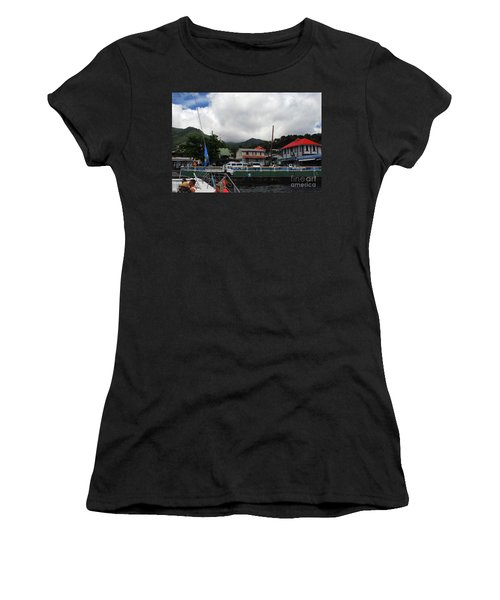 Women's T-Shirt (Athletic Fit) featuring the photograph Small Village by Gary Wonning