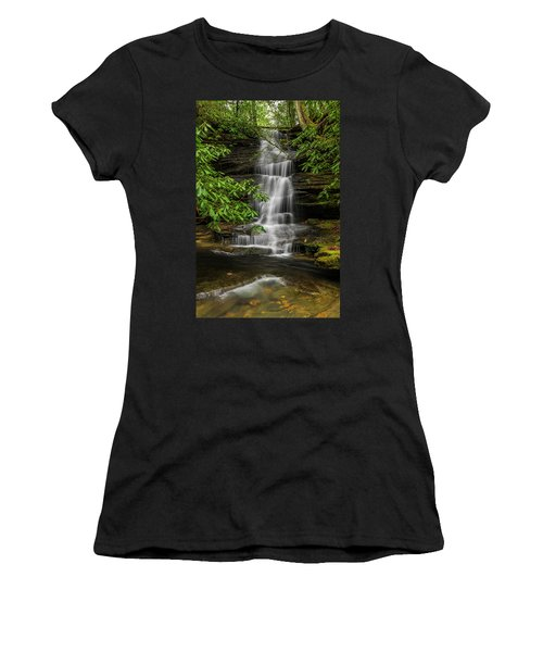 Small Waterfalls In The Forest. Women's T-Shirt (Junior Cut)